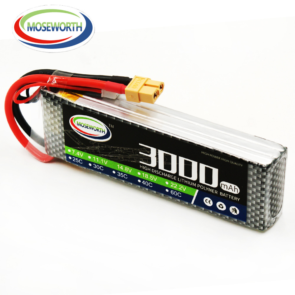 Lipo Battery 11.1V 3S 3000mAh 25C For RC Drone Quadcopter Helicopter Airplane Car Aircraft Remote Control Toys Lithium Battery