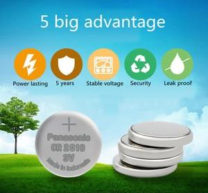 Image 3 - Panasonic Высокое качество литиевая батарея 10 шт./лот 3V li ion cr2016 кнопка батареи часы монета батареи cr 2016 DL2016 ECR2016 GPCR