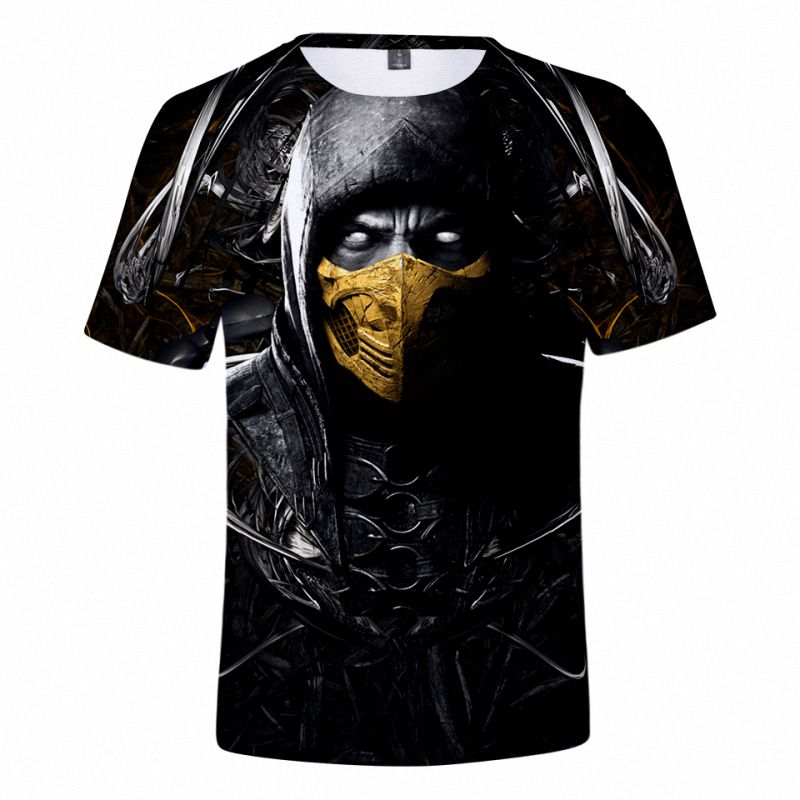 2019 Summer 3D Mortal Kombat 11 T Shirt Men Women Popular T Shirt High Quality Soft Classic Harajuku Mortal Kombat 11 Top