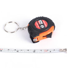 Retractable Creative Steel Ruler Tape Measure Key Chain Mini Pocket Size Metric 1m Sewing Cloth Metric Tailor Tools(China)