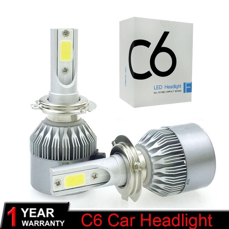 2X 72W 9005 HB3 LED Headlight Conversion Kit Bulbs COB Chip Light Lamp 6000K 12V