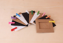 3 inch 10X Paper Photo Frame Picture Hanging Album Frame Gallery With Hemp Rope Clips