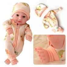 Fit 10 Reborn Doll Mini variety Girl Boy Full Silicone Vinyl Cute Twins Dolls Lifelike Reborns for Toddler Bathing