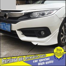 Car Styling ABS front and rear bumper bodykit Four angle cover protection plate for Honda civic 2016 car Decoration Accessories(China)