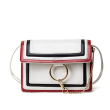 2016 Autumn Winter Fashion Crossbody Bag for Women PU Leather Handbags Shoulder Bag with Chain Rring Decor Bolsos Messenger Bags