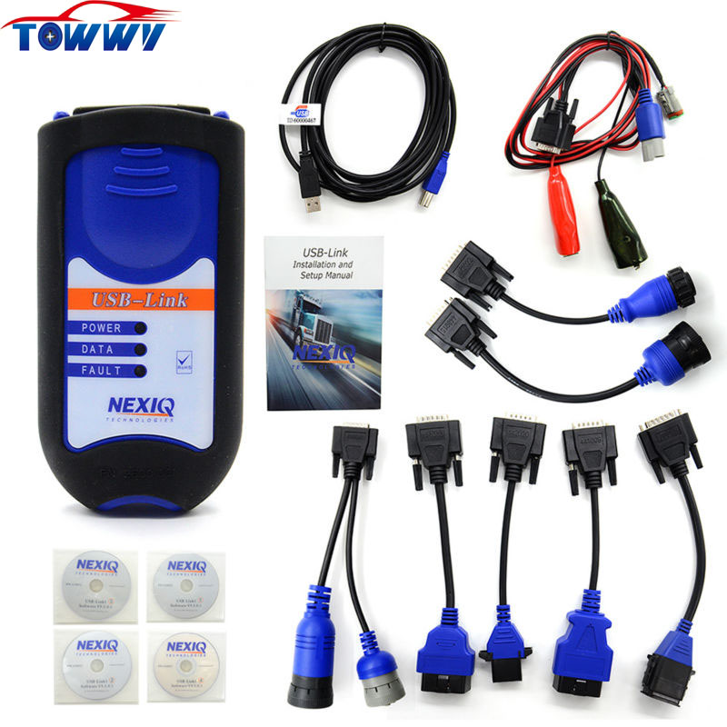 Newest Powerful&Professional  NEXIQ USB Link 125032  With All Adapters For Diesel Truck Diagnostic Tool With All Installers  цены