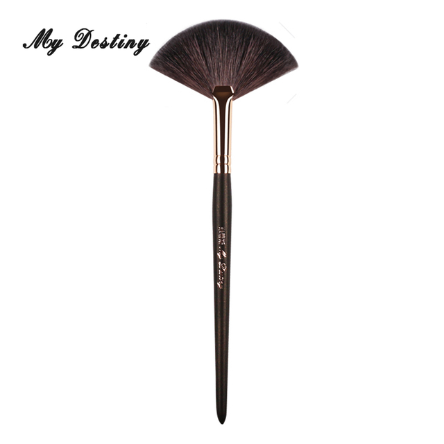 MY DESTINY Goat Hair Fan Brush for Powder Make Up Makeup Brushes Pincel Maquiagem Brochas Maquillaje Pinceaux Maquillage 051 1