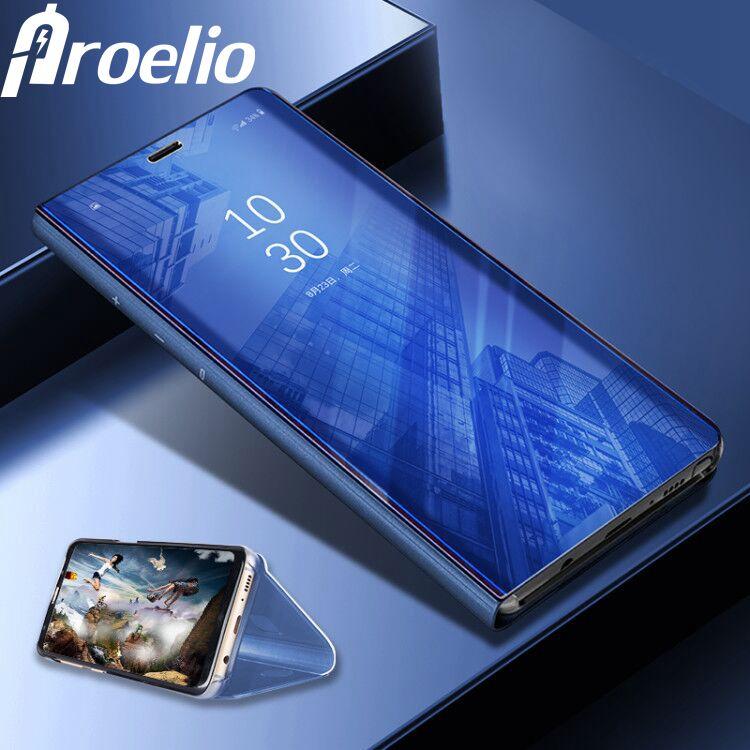 Proelio Smart Case Miroir Couverture Clear View Pour Samsung Galaxy S8 Plus S8 S7 S6 Bord Sac À Puce Cas Pour Samsung Note8 Puce