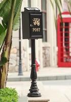 Вертикальный почтовый ящик из алюминиевого сплава вертикальный металлический ящик для почтовыx писeм деревенский алюминиевый садовый откр