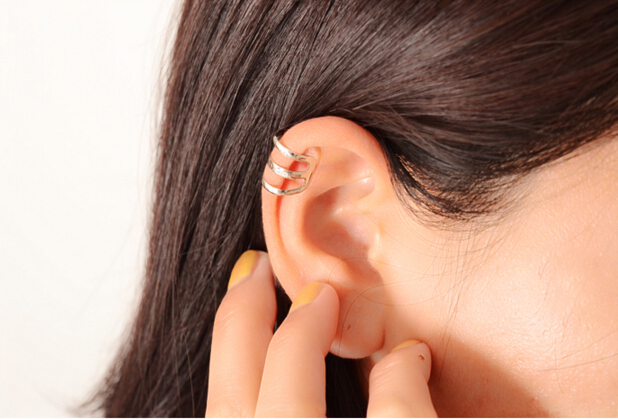 e 007 1 piece New punk rock ear clip silver gold men and women without ear piercings earrings party jewelry couple jewelry acces 10