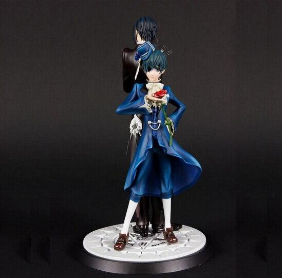 цена на Hot NEW 11cm 2pcs/set Black Butler Sebastian Michaelis Ciel Phantomhive Action Figure toys doll Christmas gift tj5