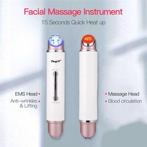 Image 3 - EMS LED פוטון אור טיפול יופי מכשיר אנטי הזדקנות קמטים מסיר פנים הרמת הידוק עין פנים לעיסוי עור טיפול כלי
