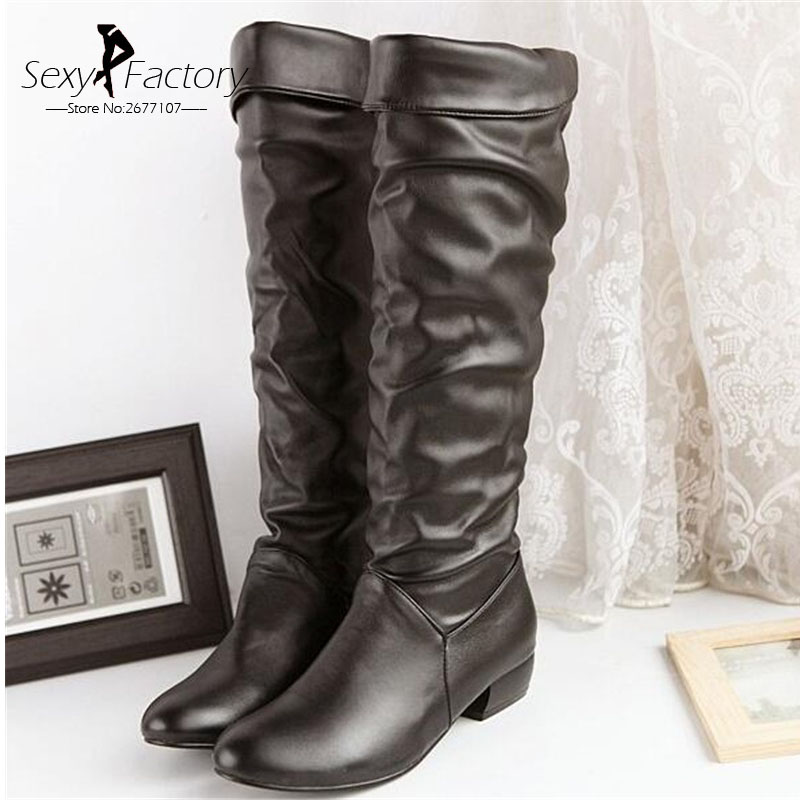 Popular Plus Size Thigh High Flat Boots-Buy Cheap Plus Size Thigh ...