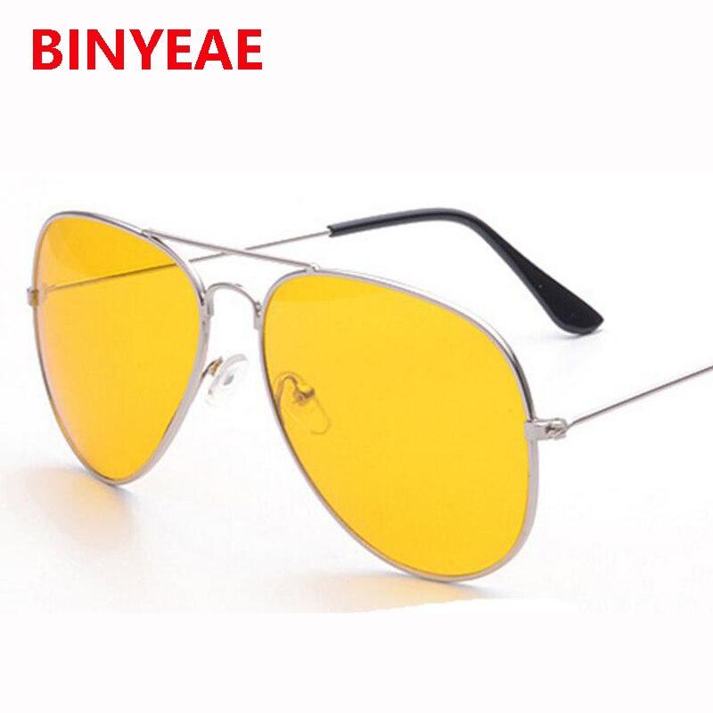 yellow aviator sunglasses women night vision driving glasses big car glasses eyeglasses frames women eyewear gafas oculos 2017 in sunglasses from womens - Yellow Eyeglass Frames