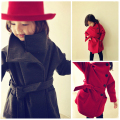New Fashion Girls Woolen Trench Coats Outerwear&Coats Children Wool Coat Retro Girl Overcoat Winter Jacket and Coat for 4-11Year