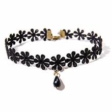 Necklace Chokers Collares Flower Drop-Pendant Crochet Fashion Jewelry Women N762 Bijoux
