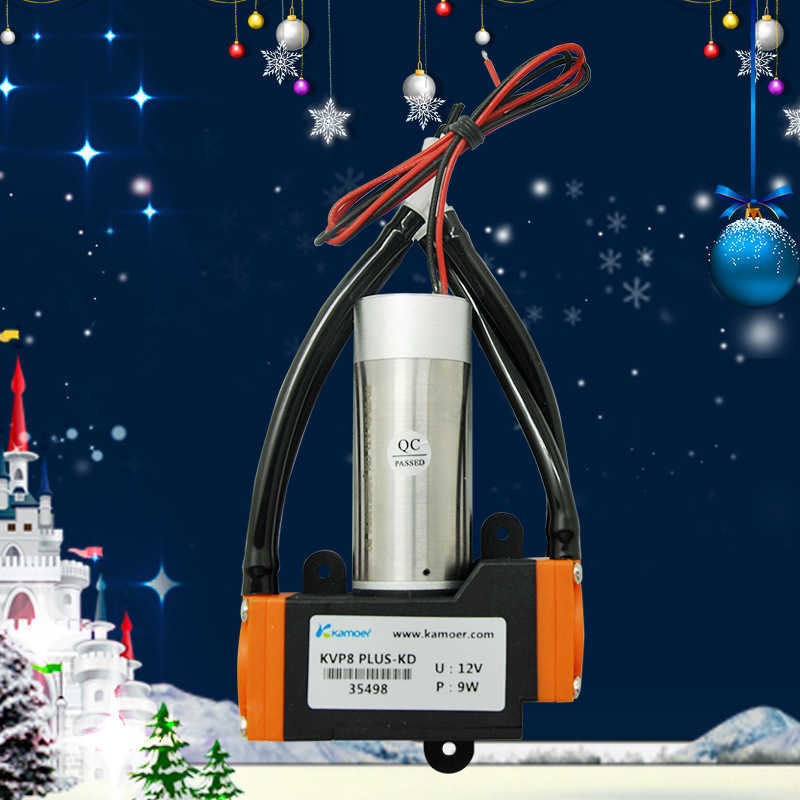 Kamoer 12V/24V KVP8 PLUS DC Vacuum Pump (Brushed/Brushless DC Motor, 12V/24V DC Air Pump, High Pressure, KVP8 UPDATE)