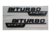 Newest BITURBO 4MATIC ABS Plastic Car Trunk Rear Letters Badge Emblem Decal Sticker for Mercedes Benz AMG