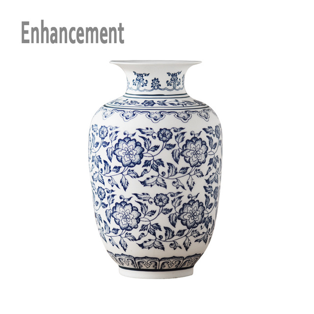 Blue and White Porcelain Vases Interlocking Lotus Design Flower Ceramic Vase Handmade Home Decoration Jingdezhen Flower Vases 1