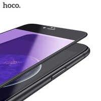 HOCO dla iPhone 7 8 i 7 8PLUS 3D miękka krawędzie elastyczne szkło hartowane przezroczyste okulary blokujące niebieskie światło Screen Protector dla iPhone7