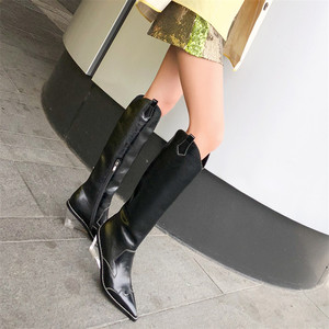 Image 4 - FEDONAS Sonbahar Kış Marka Chelsea Çizmeler Yüksek Topuklu Hakiki Deri Kadın Diz Yüksek Çizmeler Uzun Çizmeler Gece Kulübü Ayakkabı Kadın
