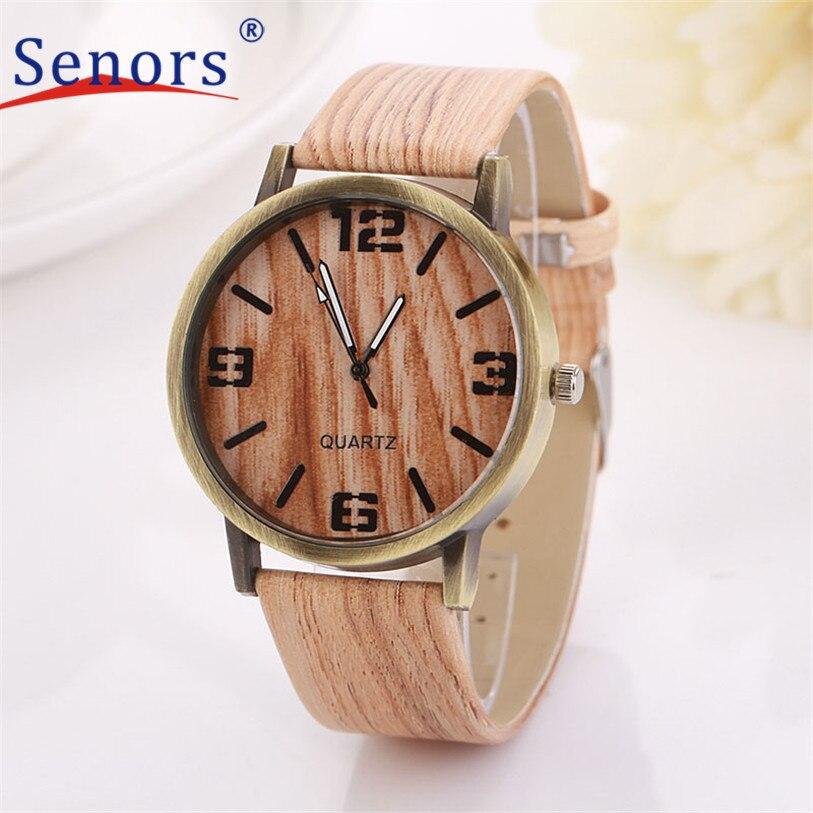 Superior New Wood Grain Watches Fashion Quartz Watch Wristwatch Gift for Women Men June 24