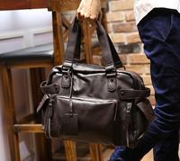 Men's bag casual shoulder bag Messenger bag handbag men's PU Leather business travel bag large capacity Briefcase