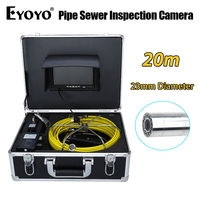 Eyoyo 20M 7 LCD 23mm Wall Drain Sewer Pipe Line Inspection Camera System HD TFT CMOS