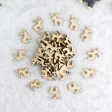 50pcs Wooden Deer Shape Slices For Children Handmade Home Photo Ornament DIY Accessories Wood DIY Package(China)
