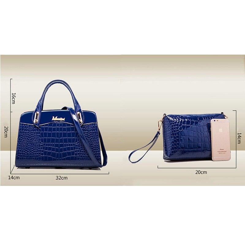 Fashion 3PCS/Set Women Handbag Composite Bag Handbag Women's Shoulder Bag Luxury Designer Female Stone pattern Messenger Bags-in Shoulder Bags from Luggage & Bags    3
