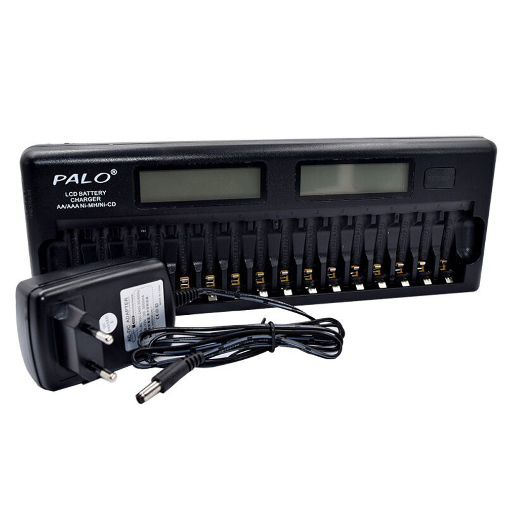 PALO PL NC31 Intelligent Battery Charger Two Speedy Smart Charger w 16 Battery Slots for 1