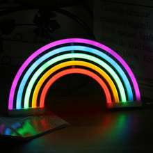 Night Lights Rainbow Neon Sign Light Wall Battery or USB Operation LED for Home Decoration