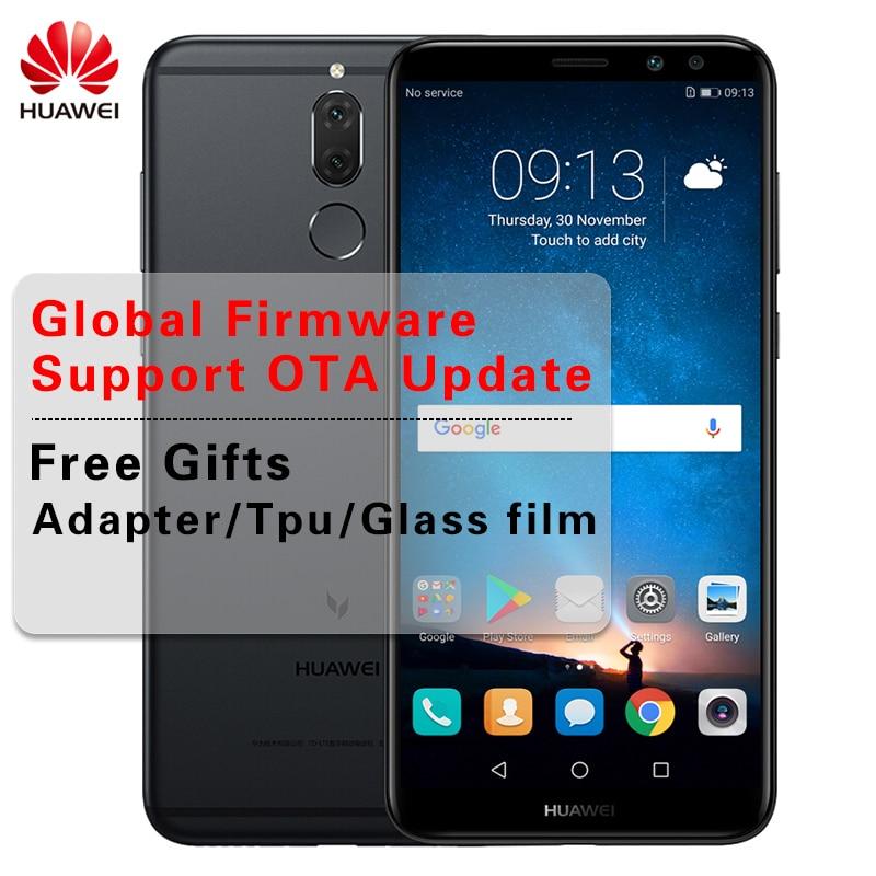 """Глобальный huawei Коврики 10 Lite 4G 6 4G B Kirin659 Octa Core сотовый телефон 4 камер 5,9 """"Nova 2i Android 7,0 двойной спереди и сзади камеры"""