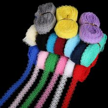"5 yards/lot 5/8 ""(15mm) kant Lint Bilaterale Ambachten Geborduurde Netto Kant Trim Stof Lint DIY Naaien Rok Accessoires(China)"