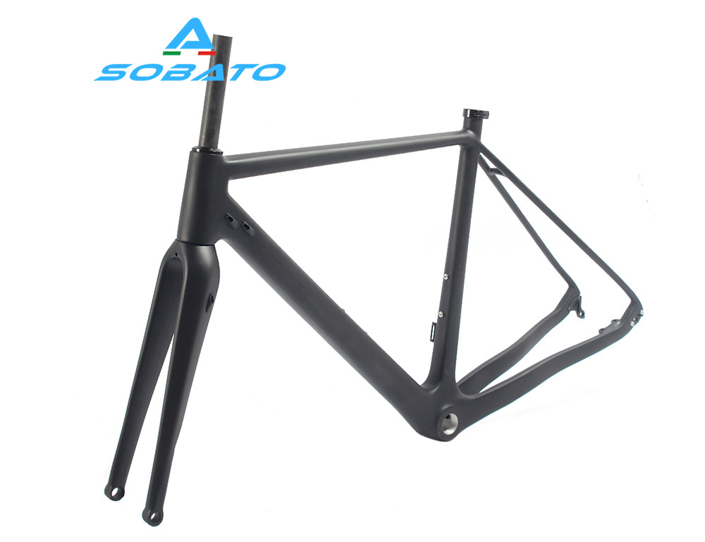chinese carbon road di2 carbon cyclocross frame disc thru axle cyclocross bike disc brake frame cyclocross