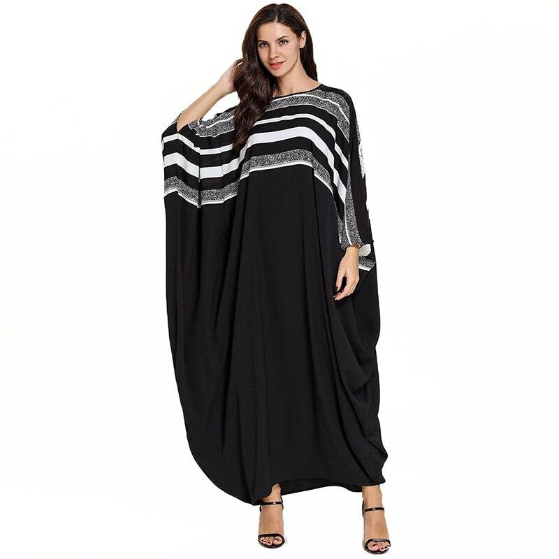 Plus Size Quality New Arab Elegant Loose Abaya Kaftan Islamic Fashion Muslim Dress Clothing Design Women Black Dubai Abaya