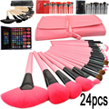 2016 professional makeup brushes 24 Pcs Cosmetic Makeup Brush tools /Foundation eyebrow Brushes for make up set cosmetic kit
