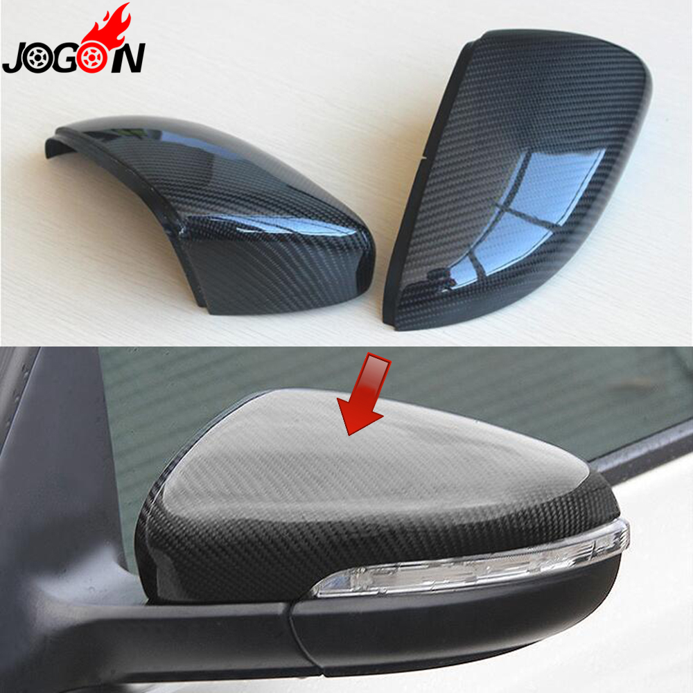 Carbon Fiber For VW Volkswagen Golf 6 MK6 R GTI VI 2009- 2013 Car Side Rear View Rearview Back Mirror Cover Replacement