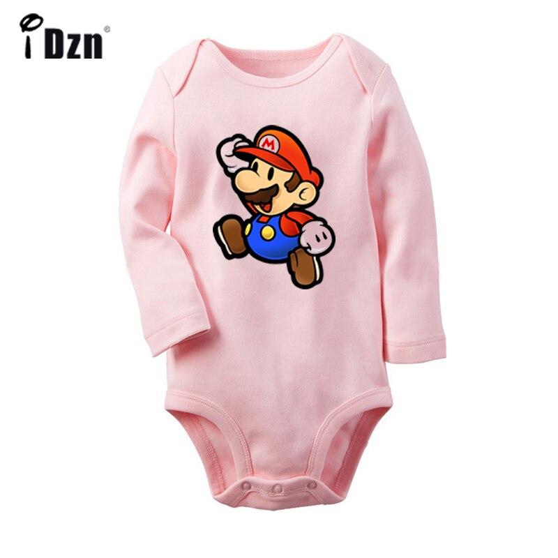 Mario cartoon pokemon kangaskhan lugia nidoran pinsir ponyta design bebê recém-nascido bodysuit da criança onsies macacão roupas de algodão