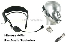 High Qulity Black Headset Head Microphone For audio-technica Wireless Mic System
