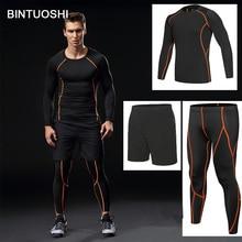 08ec9c05cd406 BINTUOSHI 3 piezas hombres gimnasio ropa deportiva hombre gimnasio  corriendo establece camisetas de baloncesto traje de entrenam.