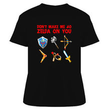 The Legend of Zelda Don't Make Me T Shirt T Shits Printing Short Sleeve Casual O-Neck Cotton T-Shirt  Men Summer Casual