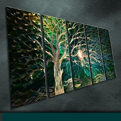 Modern Original Art Metal Wall Metal Art Original Handmade Large Indoor Tree Series in 4 pieces