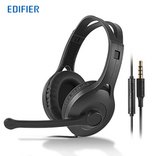 EDIFIER K800 Flexible Adjustable Headset Detachable Earbuds Headphone Noise Canceling With Mic for Cellphone Computer