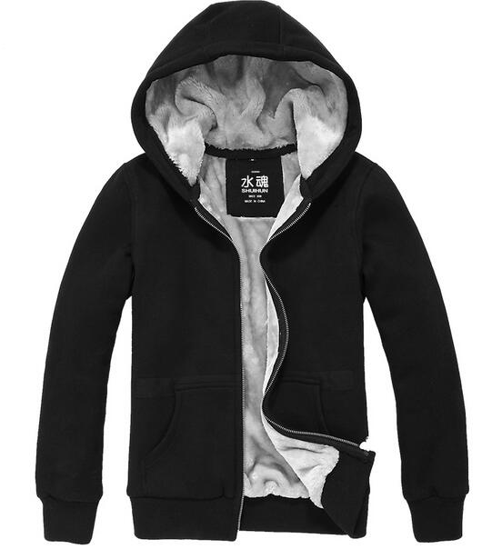 ce5f709b2 Fashion Men and women Winter Coat Hoodie Zip up Hoodies Coat thick plush  Jacket High quality Sweatshirt-in Hoodies & Sweatshirts from Men's Clothing  on ...