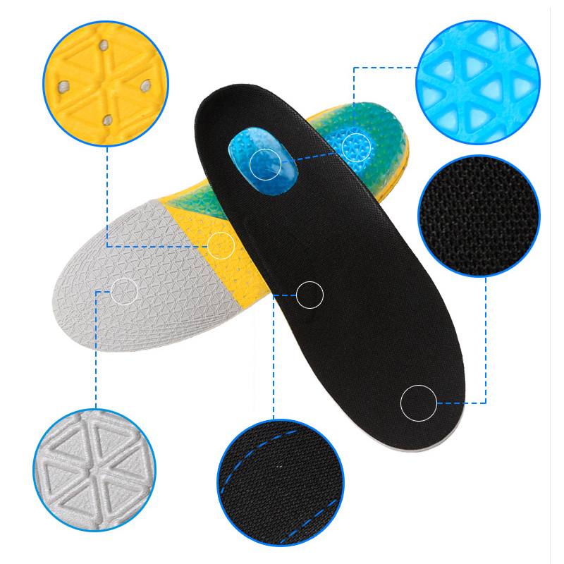 SOCOMFY Full Comfort Massaging Orthotic Sports Gel Arch Support Insoles Shoe Pad Inserts For Men/Women