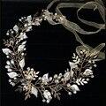 Elegante barroco corona tiaras y coronas tiara del partido accesorios de boda joyería nupcial del pelo