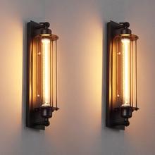 Lámpara de pared Industrial Vintage, envío gratuito, lámparas de hierro para dormitorio, pasillo, restaurante, Pub, Edison, Retro, apliques de lámpara