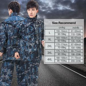 Image 5 - QIAN RAINPROOF Professional Outdoor Raincoat Thicker Heavy Water Gear Hiddenhat Fashionable Sportswear Waterproof Rain Gear