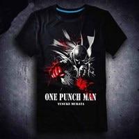 New One Punch Man T Shirt Anime Saitama Men T Shirt Cotton Summer Short Sleeve Tees